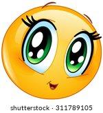 Stock vector cute manga girl emoticon 311789105