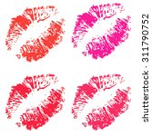 vector set of lips | Shutterstock .eps vector #311790752