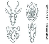African Animal Icons  Vector...