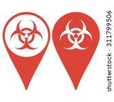 bio hazard icon   vector web... | Shutterstock .eps vector #311799506