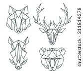 animal icons  vector icon set.... | Shutterstock .eps vector #311814278