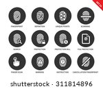 fingerprint vector icons set.... | Shutterstock .eps vector #311814896