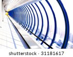 glass corridor in office centre | Shutterstock . vector #31181617