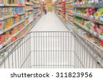 shopping in supermarket with...