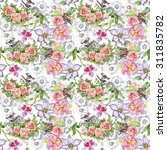 seamless floral pattern on...   Shutterstock . vector #311835782