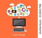 cloud storage or cloud... | Shutterstock .eps vector #311841788
