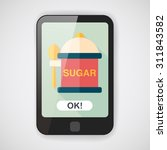kitchenware sugar flat icon...   Shutterstock .eps vector #311843582