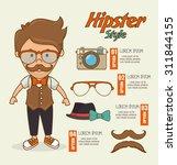 hipster lifestyle design ... | Shutterstock .eps vector #311844155