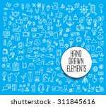 hand drawn icons and elements... | Shutterstock .eps vector #311845616
