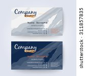 business card template... | Shutterstock .eps vector #311857835