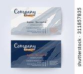 business card template... | Shutterstock .eps vector #311857835