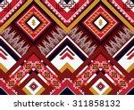 geometric ethnic pattern... | Shutterstock .eps vector #311858132