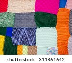 Colorful Knit Texture Patchwor...