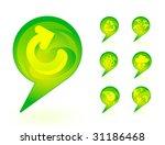 green environmental bubbles on... | Shutterstock .eps vector #31186468