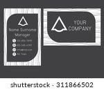 business card template modern... | Shutterstock .eps vector #311866502