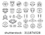 vector linear brewery labels.   Shutterstock .eps vector #311876528