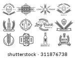 vector beer labels. | Shutterstock .eps vector #311876738