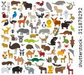 set cartoon animals from all... | Shutterstock .eps vector #311878292