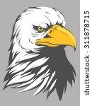bald eagle head cartoon | Shutterstock .eps vector #311878715