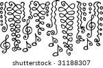 musical vignette. eau forte... | Shutterstock .eps vector #31188307