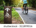bicycle sign  bicycle lane in...