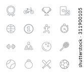 winners and sport icons. winner ... | Shutterstock .eps vector #311900105