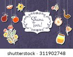 vector collection of label and... | Shutterstock .eps vector #311902748