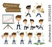 Set Of Business Character...