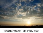 gorgeous sky with clouds at... | Shutterstock . vector #311907452