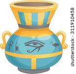 Egyptian Vase Vector