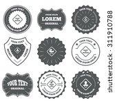 vintage emblems  labels. baby... | Shutterstock .eps vector #311910788