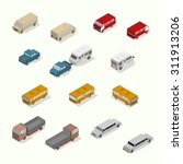 isometric transport icon set. ... | Shutterstock .eps vector #311913206