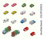 isometric transport icon set. ... | Shutterstock .eps vector #311913422