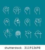 line icon set representing... | Shutterstock .eps vector #311913698