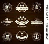 beer festival oktoberfest... | Shutterstock .eps vector #311914562