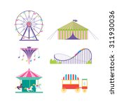 amusement park vector set | Shutterstock .eps vector #311930036