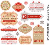 a set of elegant christmas and... | Shutterstock .eps vector #311934782