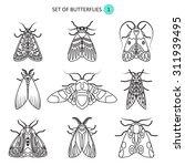 set of butterflies | Shutterstock .eps vector #311939495