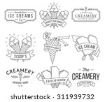 vector ice cream badges and... | Shutterstock .eps vector #311939732