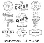 vector ice cream badges and... | Shutterstock .eps vector #311939735