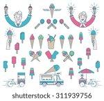 vector ice cream bundle with... | Shutterstock .eps vector #311939756