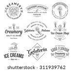 vector ice cream badges and... | Shutterstock .eps vector #311939762
