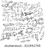 vector hand drawn arrows set... | Shutterstock .eps vector #311941745