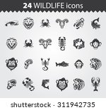 simple web icons  wildlife | Shutterstock .eps vector #311942735