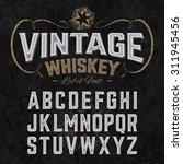 Vintage Whiskey Label Font Wit...