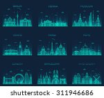 europe skylines detailed... | Shutterstock .eps vector #311946686