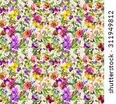 flowers and butterflies.... | Shutterstock . vector #311949812