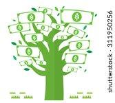 vector dollar money tree green... | Shutterstock .eps vector #311950256