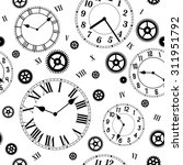 clocks gears vector seamless... | Shutterstock .eps vector #311951792