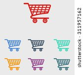 flat icon of shopping chart | Shutterstock .eps vector #311957162